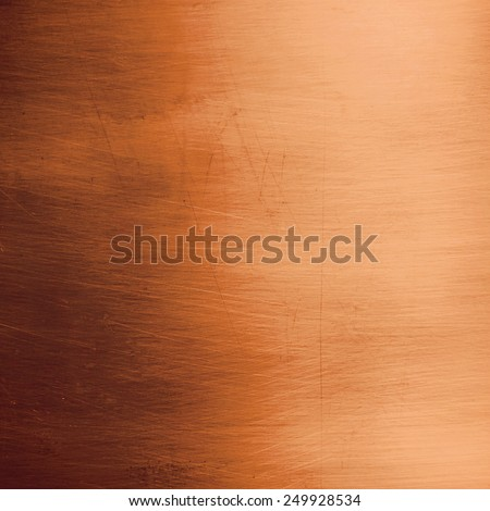 Blank bronze metallic plate - stock photo