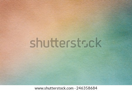 Blank Brown And Blue Watercolor Paper Texture For Artwork - stock photo