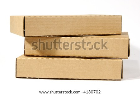 Blank brown boxes
