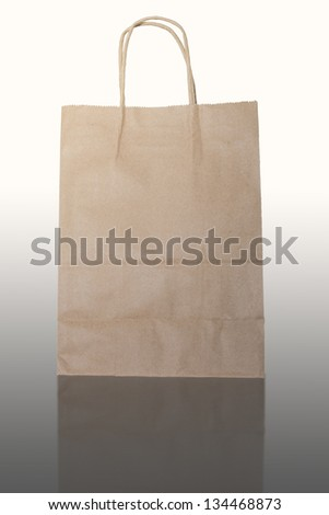 blank brown paper bag isolated