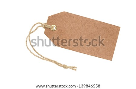 Blank brown tag - stock photo