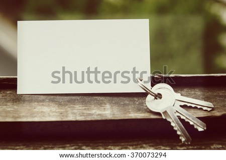 blank business card with house figure real estate concept top view toned photo awesome office table top view shutterstock id