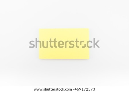 Blank business card with soft shadows