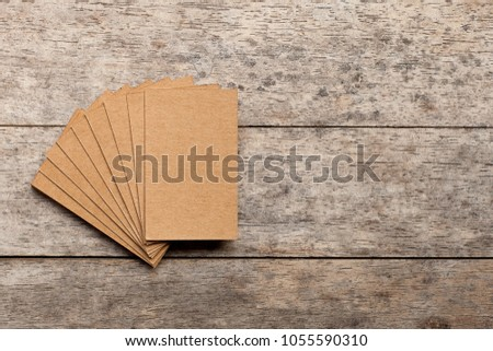 blank business cards on wooden background stock photo royalty free