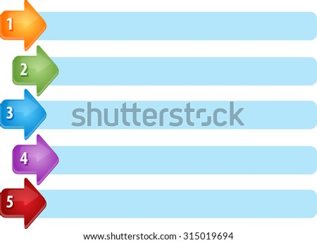 Blank business strategy concept infographic diagram illustration Arrow List Five - stock photo