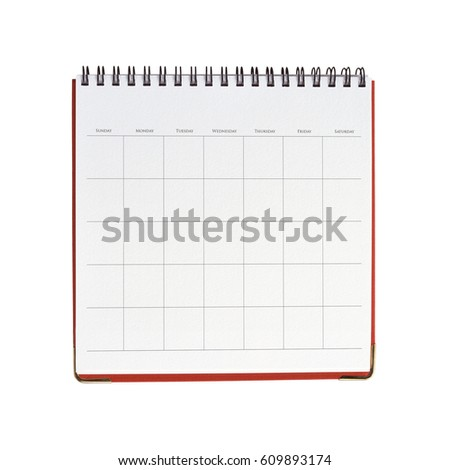 Blank Calendar Stock Images, Royalty-Free Images & Vectors