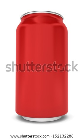 Blank can. 3d illustration on white background