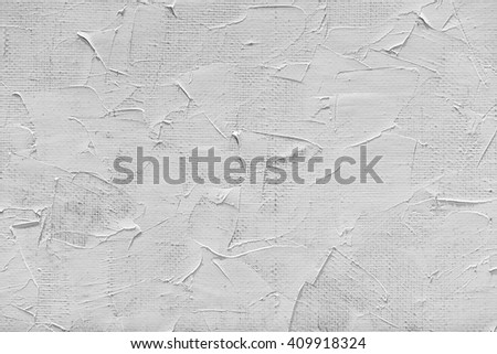 blank canvas and white paint - stock photo