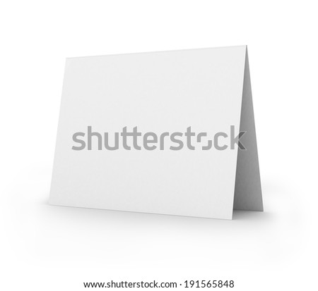 blank card, isolated on white - stock photo