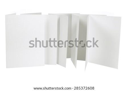 Blank Cards on White Background - stock photo