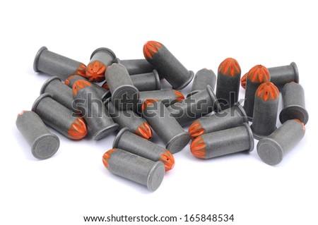 Blank cartridges isolated on white background - stock photo
