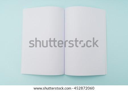 Blank catalog,brochure, magazines,book mock up - stock photo