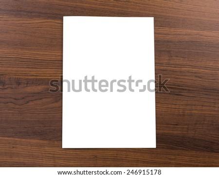 Blank catalog,brochure,  mock up on wood background - stock photo