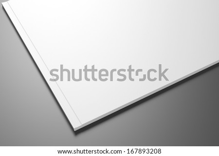 Blank Catalog / Brochure on dark background for your design - stock photo