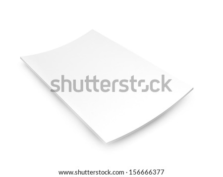 blank catalog in a4 size set as a ple isolated on white