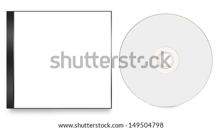 blank cd cover - stock photo