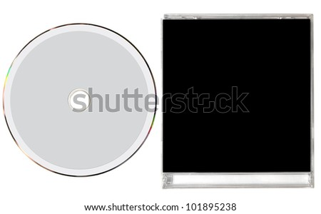 Blank cd cover isolated on white