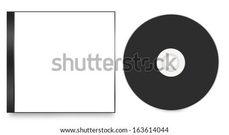 Blank CD / DVD mock up set - stock photo