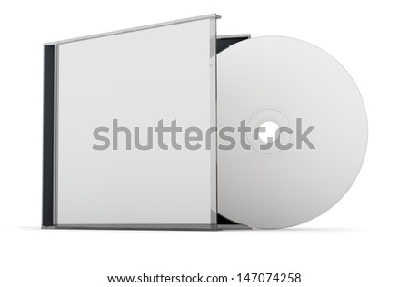 Blank CD / DVD mock up set. Clipping path included for easy selection. - stock photo