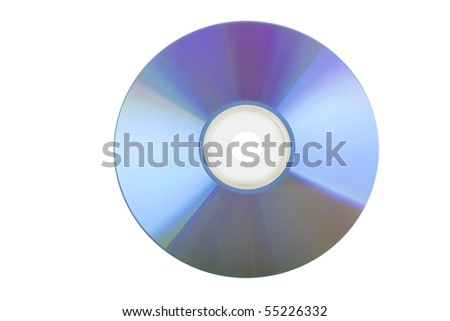 blank CD or DVD on white background - stock photo