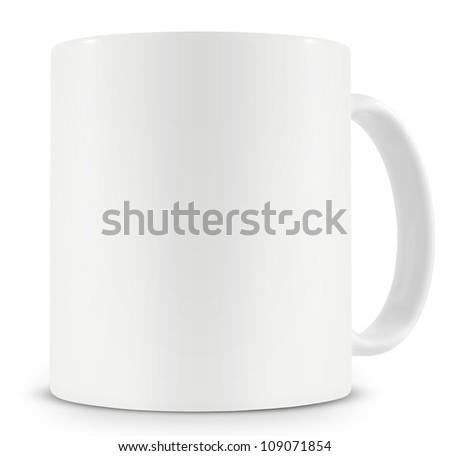 Blank Ceramic Coffee Mug - stock photo