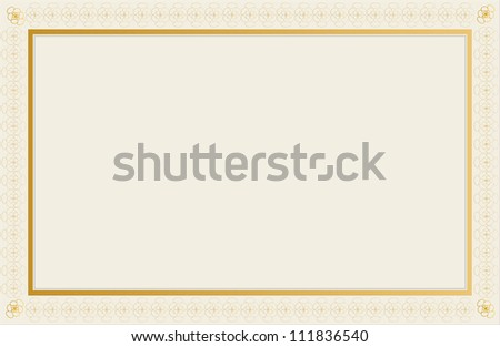 Blank Certificate Design. - stock photo