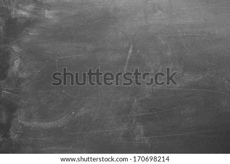Blank chalk board surface - stock photo