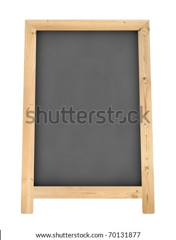 blank chalkboard floor stand sign isolate on white background