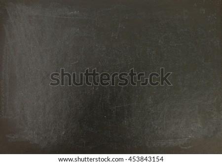 Blank chalkboard written in chalk on a chalkboard on a rustic background - stock photo