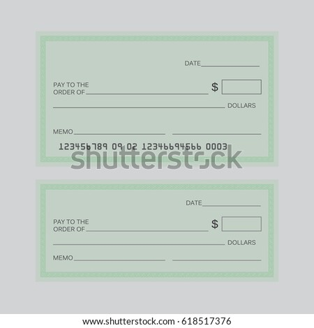 Blank Check Blank Check Sign Bill Stock Illustration 618517376 ...