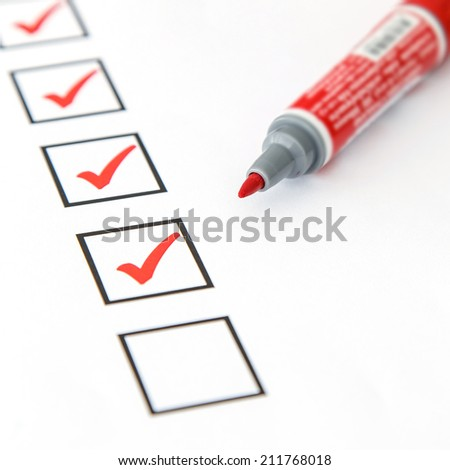blank checkbox - stock photo