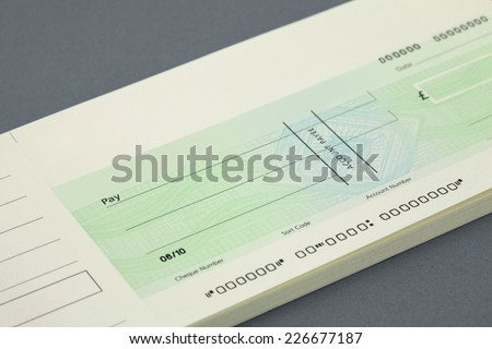 blank Cheque and cheque book