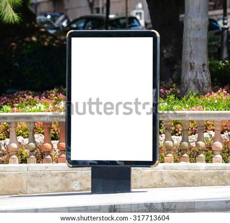 Blank city billboard - stock photo