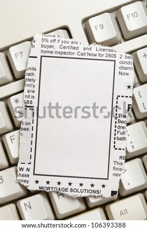 Blank Classified Ad, newspaper, business concept. - stock photo