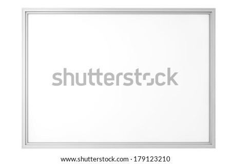 Blank Classroom Whiteboard isolated on a white background - stock photo