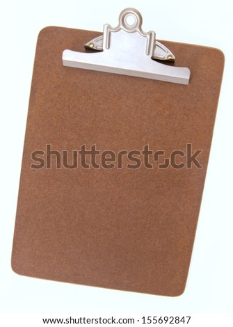 Blank clip board for clamping papers