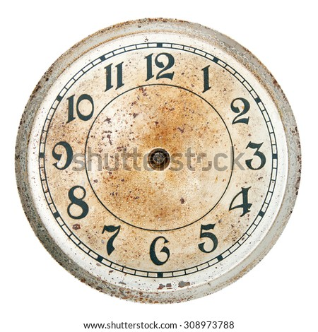Blank clock dial without hands - stock photo