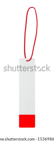 Blank clothing tag - stock photo