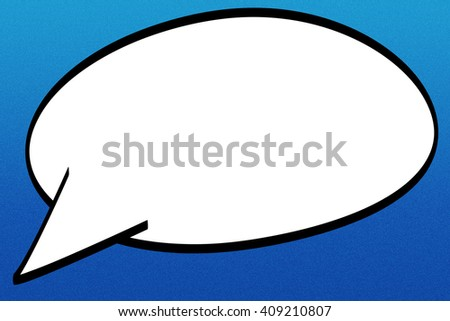 Blank Comic Speech Bubble