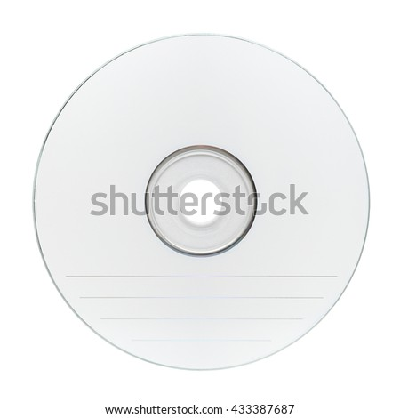 Blank compact disc CD isolated on white background