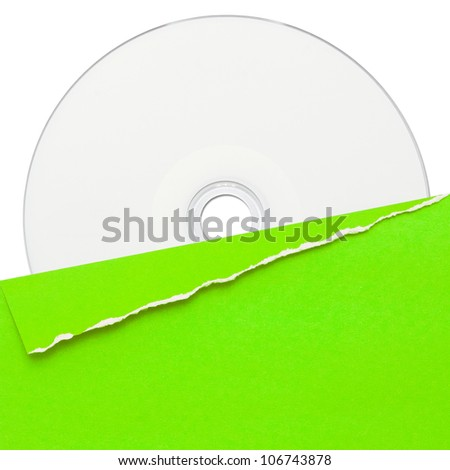 blank compact disc with green cover
