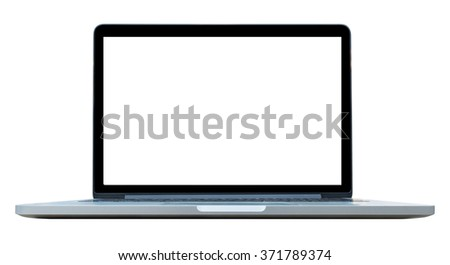 Blank computer laptop can use for montage or display your product background.