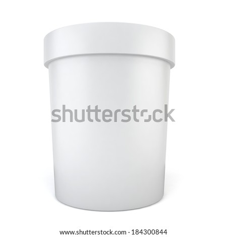 Blank container. 3d illustration on white background
