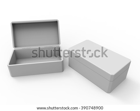 Blank containers, boxes, packages. Template for your design - stock photo