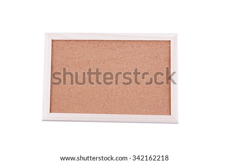 Blank Cork board with wooden frame (isolated) - stock photo
