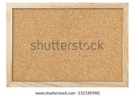 Blank corkboard - stock photo