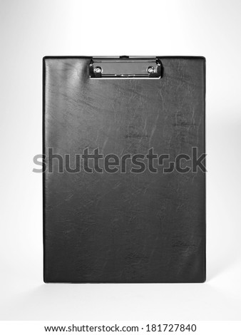 Blank cortical clip board on white background - stock photo