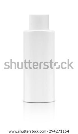 blank cosmetic bottle isolated on white background - stock photo