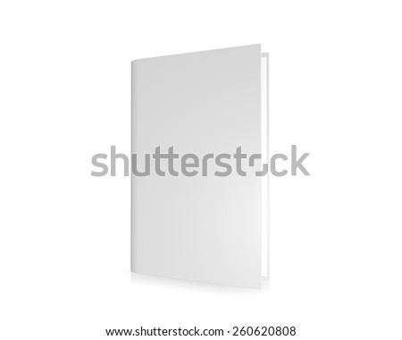 Blank cover book, isolated on a white background - stock photo