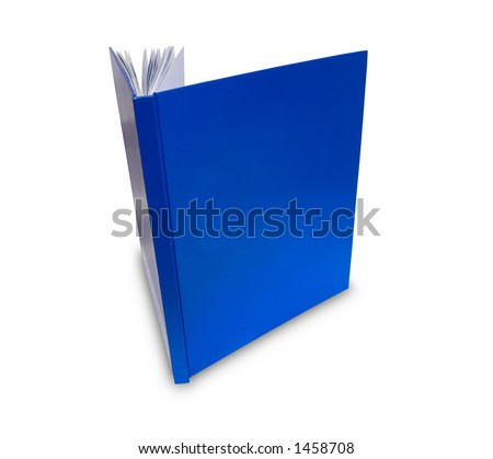Blank Cover Book on white background - stock photo